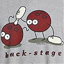 T-shirt BACK STAGE Kukuxumusu