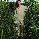 Piżama podróżna damska antykomarowa Insect Shield (Egipska Bawełna)