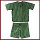 Pidżama podróżna męska (100% Jedwab) - Tar Green